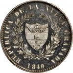 COLOMBIA. 1849 pattern 8 Reales. Popayán mint. Restrepo P64. Silver. SP-62 (PCGS).
