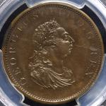 GREAT BRITAIN George III ジョージ3世(1760~1820) Pattern Penny 1805 PCGS-PR63 Proof UNC