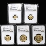 2003年熊猫纪念金币一组5枚 NGC MS