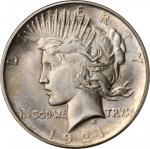 1921 Peace Silver Dollar. High Relief. MS-65 (PCGS). CAC.