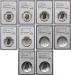Lot of (10) 2019-Dated Apollo 11 50th Anniversary Commemorative Coins and Related Kennedy Half Dolla