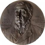 SOUTH AFRICA. 70th Birthday of President Paul Kruger Bronze Medal, 1900. PCGS MS-65 BN Brown.