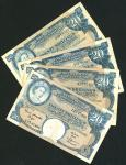 East African Currency Board, 20 shillings, Nairobi, ND (1962-63), serial number A27 06147, blue, Que