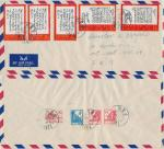 China - 1969 Airmail cover from China to Germany mixed franking with