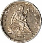 1856-O Liberty Seated Quarter. Briggs 2-B. AU Details--Altered Surfaces (PCGS).