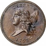 1793 Liberty Cap Half Cent. Head Left. C-3. Rarity-3. MS-63 BN (PCGS).