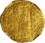 FRANCE. Franc a Pied, ND (1364-80). Charles V. NGC MS-63.