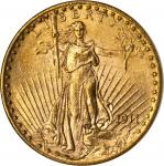 1911-D Saint-Gaudens Double Eagle. MS-63 (NGC). OH.