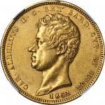 ITALY. Sardinia. 100 Lire, 1832-P. Genoa Mint. NGC AU-58.
