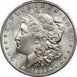 1893-CC Morgan Silver Dollar. MS-64+ (PCGS). CAC.