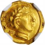 ITALY. Etruria. Populonia. AV 25 Asses (1.30 gms), ca. 300-250 B.C. NGC MS, Strike: 5/5 Surface: 4/5