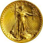 MCMVII (1907) Saint-Gaudens Double Eagle. High Relief. Wire Rim. MS-65+ (PCGS). Gold Shield Holder.