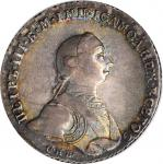 RUSSIA. Ruble, 1762-CNB HK. St. Petersburg Mint. Peter III. PCGS AU-58 Gold Shield.