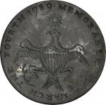 1789 Washington Inaugural Button. Dated Eagle and Star. Cobb-4; DeWitt GW1789.4; Baker-1010. Extreme
