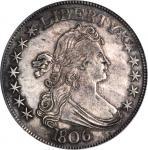 1806 Draped Bust Half Dollar. O-118, T-24. Rarity-3. Pointed 6, Stem Through Claw. AU-53 (PCGS).