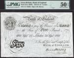 Bank of England, Ernest Musgrave Harvey (1918-1925), £5, London, 23 September 1921, serial number C/