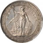 1895-B年英国贸易银元站洋一圆银币 GREAT BRITAIN. Trade Dollar, 1895-B. Bombay Mint. Victoria. PCGS Genuine--Cleane