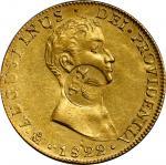 1834-37年菲律宾-墨西哥8 埃斯库多金币。 伊莎贝尔二世。PHILIPPINES. Philippines - Mexico. 8 Escudos, ND (1834-37). Isabel I