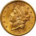 1875-S Liberty Head Double Eagle. MS-62+ (PCGS). CAC.