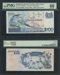Board of Commissioners of Currency, Singapore, $100, ND (1977), serial number A/5 516540, blue and m