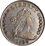 1799/8 Draped Bust Silver Dollar. BB-142, B-1. Rarity-4. 13-Star Reverse. VF Details--Cleaned (PCGS)