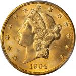 1904 Liberty Head Double Eagle. MS-64 (PCGS).