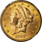 1897-S Liberty Head Double Eagle. MS-63 (NGC).