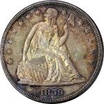1859 Liberty Seated Silver Dollar. MS-64 (PCGS). CAC.