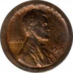 1919-S Lincoln Cent--Broadstruck on a Type I Planchet--MS-64 RB (PCGS).