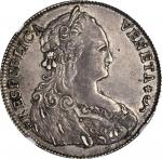 ITALY. Venice. 1/2 Tallero, 1792. Ludovico Manin (1789-97). NGC AU-55.