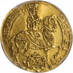 GERMANY. Saxony. Ducat, 1657. Johann Georg II (1656-80). PCGS AU-55 Secure Holder.