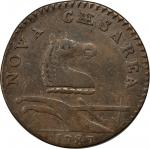 1787 New Jersey Copper. Maris 32-T, W-5100. Rarity-2. Outlined Shield. EF-40 (PCGS).