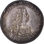 ITALY. Tuscany. Piastre, 1684. Cosimo III De Medici (1670-1723). NGC MS-62.