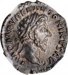 MARCUS AURELIUS, A.D. 161-180. AR Denarius (3.37 gms), Rome Mint, A.D. 162. NGC MS★, Strike: 5/5 Sur