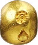 1851-68年泰国1/4泰铢子弹金币。拉玛四世。THAILAND. Gold 1/4 Baht (Salung) Bullet Money, ND (1851-68). Rama IV. EXTRE