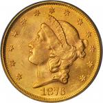 1876-S Liberty Head Double Eagle. MS-62+ (PCGS). CAC.