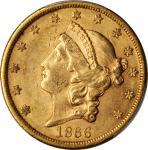 1866-S Liberty Head Double Eagle. Motto. AU-55 (PCGS). CAC.