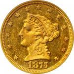 1875 Liberty Head Quarter Eagle. MS-61 (PCGS).