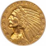 1910 $5 Indian. PCGS AU58