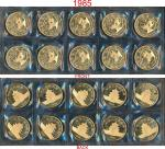 1985年熊猫纪念金币1盎司共10枚 完未流通