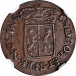 1788年荷兰东印度群岛海尔德兰1/2Duit。NETHERLANDS EAST INDIES. Gelderland. 1/2 Duit, 1788. NGC MS-61 Brown.