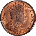 CEYLON. 1/2 Cent, 1904. London Mint. PCGS MS-64 Red Brown Gold Shield.