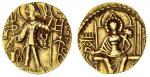 x Later Kushan, Shaka (c. 305-335), gold Dinar, 7.80g, nimbate king standing left, sacrificing at a