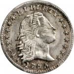 1795 Flowing Hair Half Dime. LM-8. Rarity-3. MS-63 (PCGS).