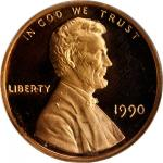 1990-S Proof Set, Featuring the 1990 No S Lincoln Cent, FS-101. Proof-69 Ultra Cameo (NGC).