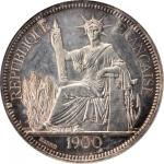 1900-A年坐洋一元银币。