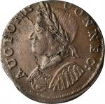 1786 Connecticut Copper. Miller 5.7-H.1, W-2610. Rarity-5. Mailed Bust Left. AU-55 (PCGS).