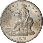 1875-S Trade Dollar. Type I/I. MS-63 (PCGS). OGH.