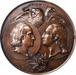 1892-1893 Worlds Columbian Exposition Rome Medal. Bronze. 91 mm. By C. Orsini and G.B. Millefiori. E