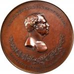 1848 Major General Zachary Taylor Buena Vista Medal. Bronze. 89.4 mm. By Charles Cushing Wright. Jul